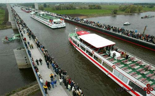Magdeburg-Water-Bridge-Germany