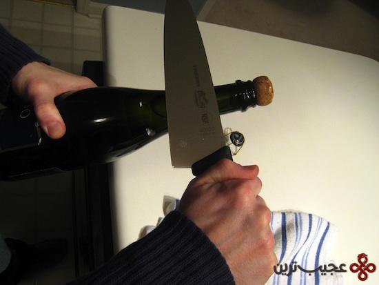 صدای کشیدن کارد روی بطری