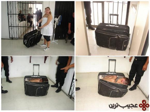 مخفی شدن در چمدان (2)