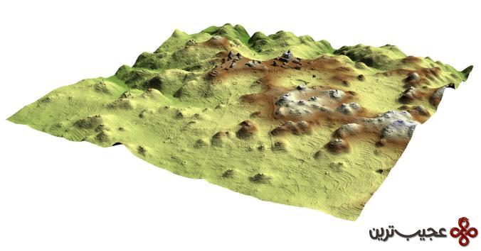 نقشه برداری لیزر شهر مایا