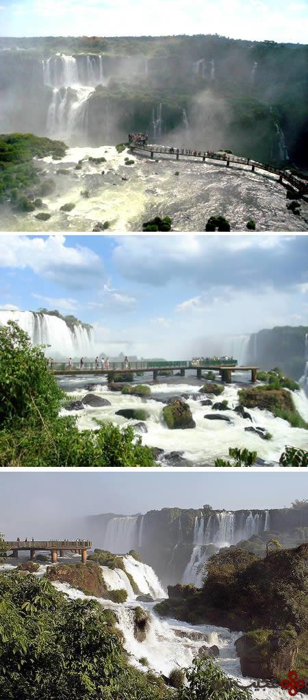 سکوی معلق در آبشار ایگازوا