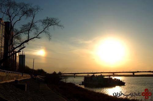 two suns shine in harbin china