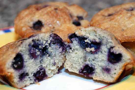 cover blueberry muffins