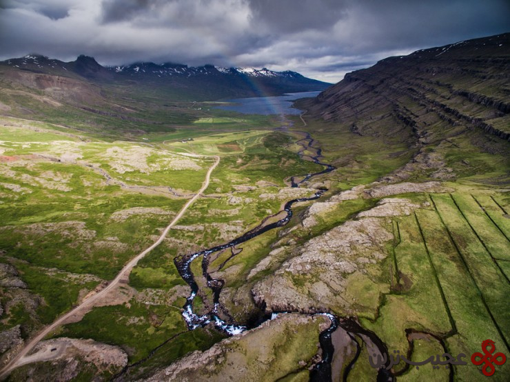 آبدرهی بروفوردور (berufjörður)، ایسلند