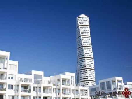برج پیچنده، بنای مسکونی مدرن در سوئد