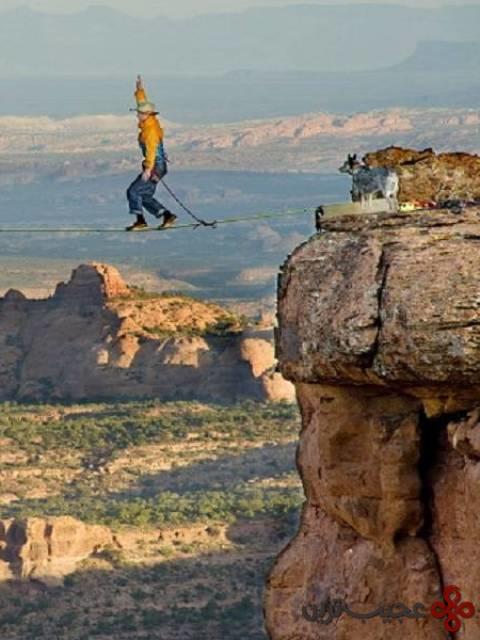 بندبازی در ارتفاع در موب، یوتا