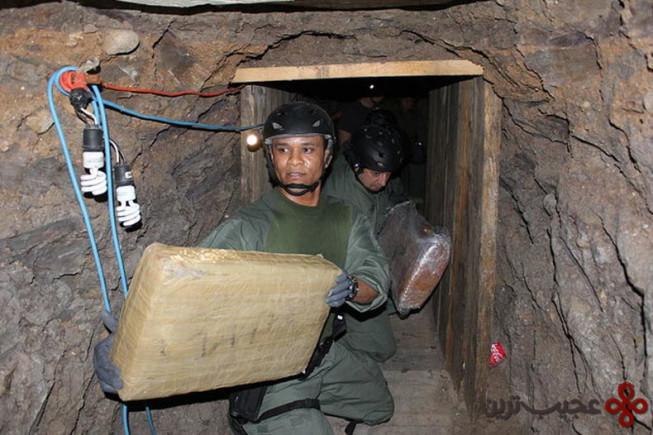 تونلهای قاچاق مواد مخدر