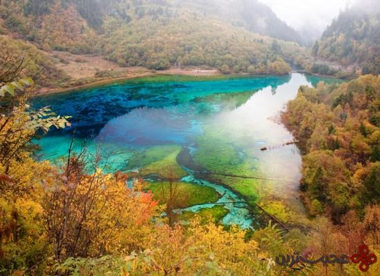 دریاچهٔ پنج گل (five flower lake)، چین