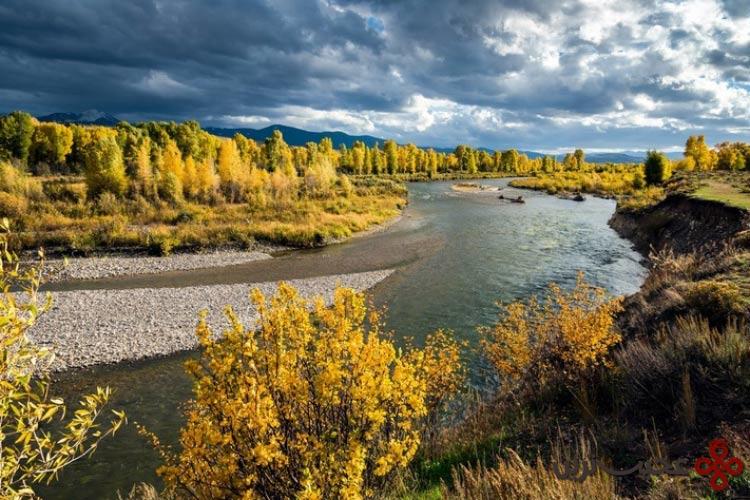 رودخانه gros ventre، وایومینگ، ایالات متحده آمریکا