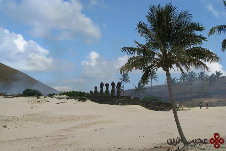 ساحل آناکِنا (anakena beach)