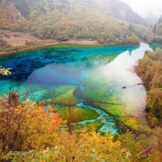 عکس کاور دریاچهٔ پنج گل (five flower lake)، چین