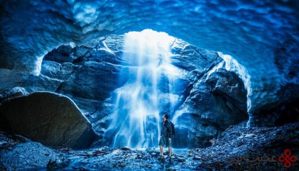 تماشای غارهای یخی در ایالت واشنگتن 2
