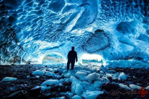تماشای غارهای یخی در ایالت واشنگتن