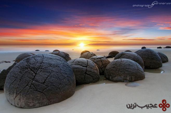 ساحل کوئکوهه (koekohe beach)، اتاگو، سات آیلند، نیوزیلند 1