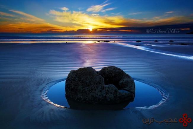 ساحل کوئکوهه (koekohe beach)، اتاگو، سات آیلند، نیوزیلند