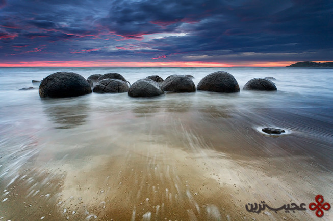 ساحل کوئکوهه (koekohe beach)،3 اتاگو، سات آیلند، نیوزیلند