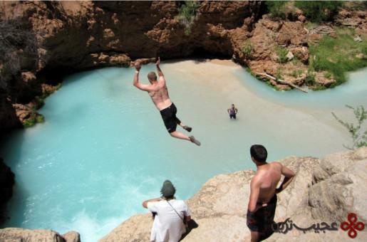 شنا در آبشار هاواسو 2