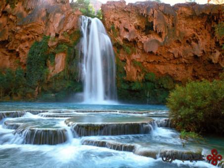 شنا در آبشار هاواسو 3