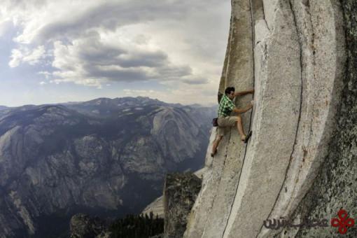 صعود رایگان با طناب از هالف دام؛ درهٔ یوسمیتی 3