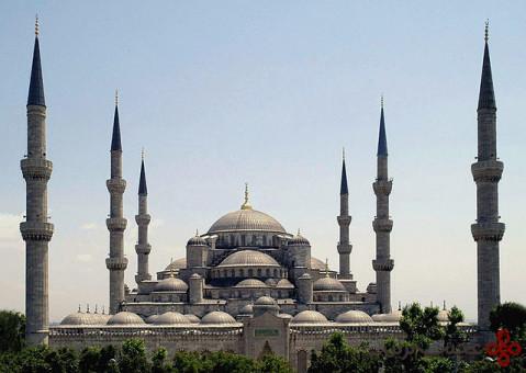 مسجد سلطان احمد یا مسجد آبی و ایاصوفیه، استانبول، ترکیه