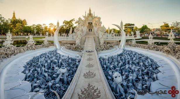 معبد سفید یا wat rong khun، استان چیانگ ری، تایلند