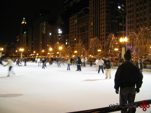 نیویورک؛ اسکی روی یخ