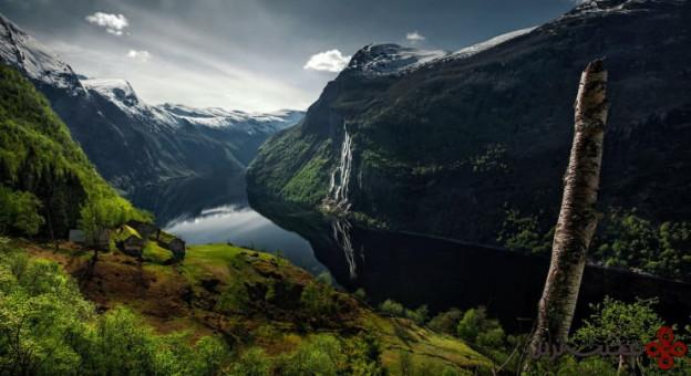 آبشارهای geirangerfjorden، نروژ