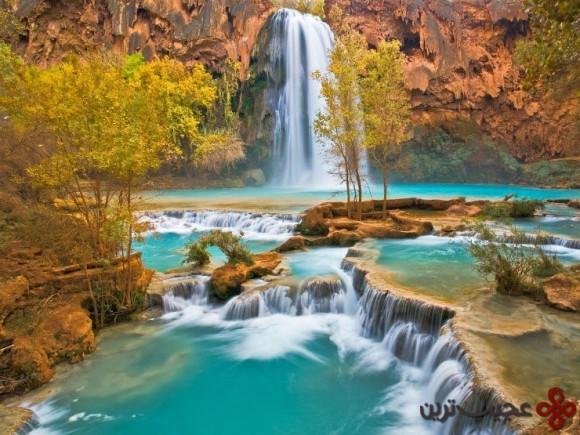 آبشارهای هاواسو (havasu)، آریزونا، ایالات متحده