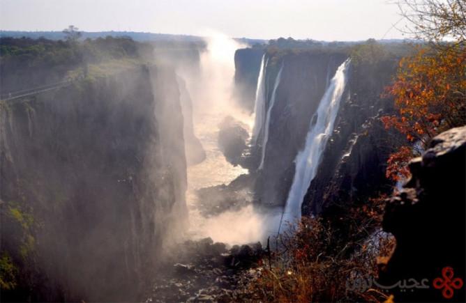 آبشار ویکتوریا، مرز زیمبابوه و زامبیا ۲