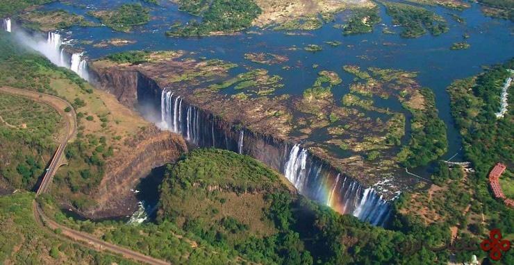آبشار ویکتوریا، مرز زیمبابوه و زامبیا ۴