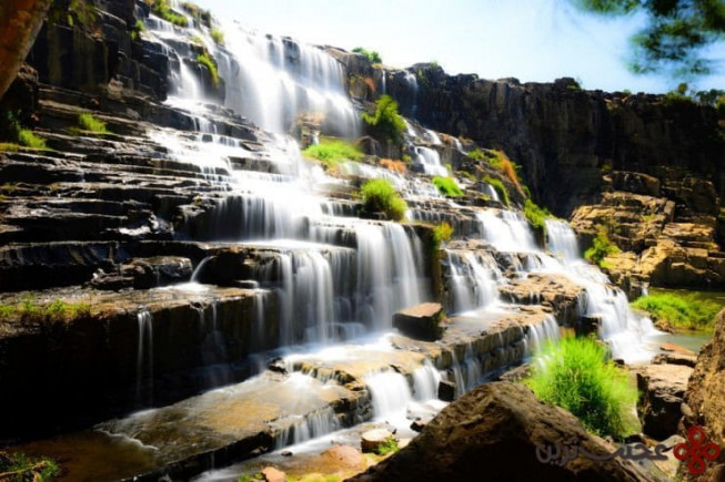 آبشار پانگور (pongour)، دلات (dalat)، ویتنام