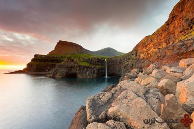 آبشار gásadalur، جزیرهی واگار (vagar)، جزایر فارو