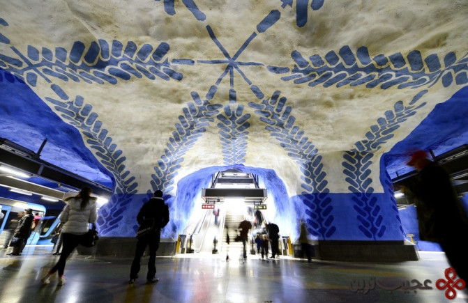 ایستگاه تی سنترالن (t centralen)، استکهلم، سوئد