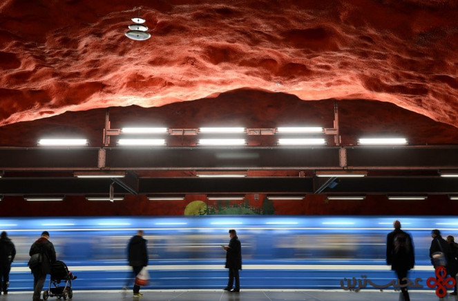 ایستگاه سولنا (solna)، استکهلم، سوئد