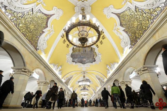 ایستگاه مترو کومسومولسکایا (komsomolskaya)، مسکو، روسیه
