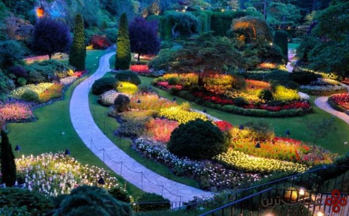 باغ باتچارت (butchart)، خلیج برنت وود، بریتیش کلمبیا، کانادا