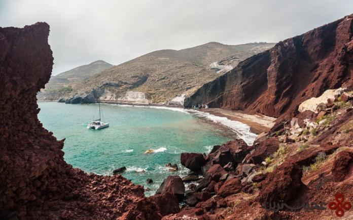 جزیره santorini