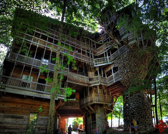 خانهی درختی مینیستر، کروسویل (crossville)، تنسی (tennessee)، آمریکا