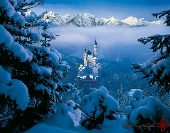 زیبای خفته، قلعهی نوشوَنشتاین (nuschwanstein castle)، باواریا، آلمان