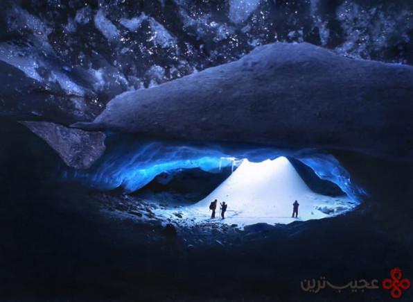 شکاف یخ booming، صخرههای کانادایی، کانادا
