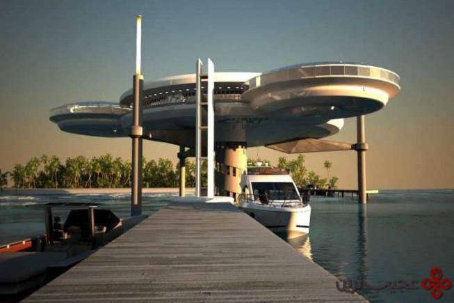 طرح ساخت هتل در زیر آب