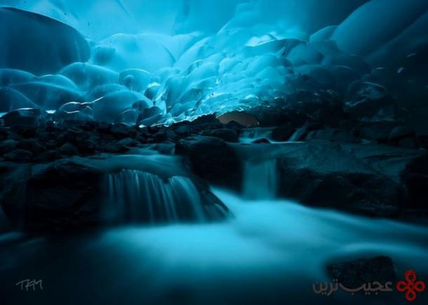 غارهای یخچال مِندِنهال (mendenhall)، جِنو، آلاسکا، ایالات متحده