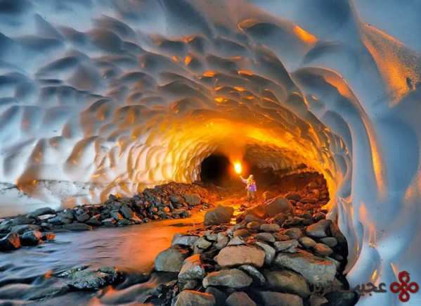 غار یخی، کامچاتکا، روسیه