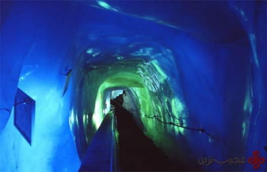 غار یخی در mittelallalin، یخچالهای طبیعی فیری، سوییس