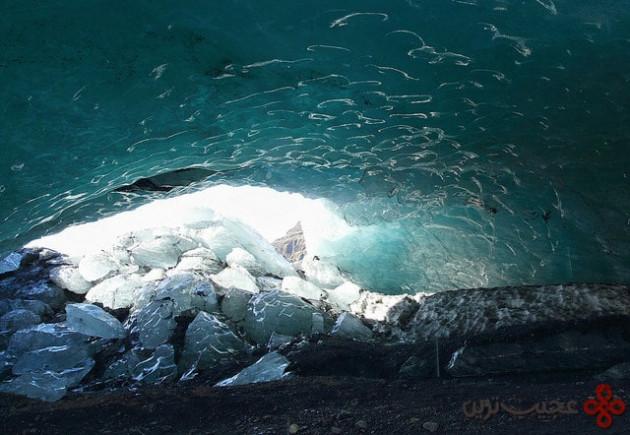 غار یخی یخچال طبیعی mýrdalsjökull، ایسلند