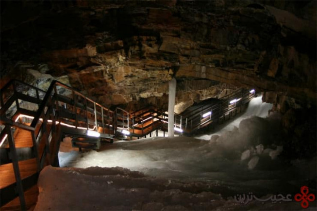 غار یخی dobšinská، دابسینا (dobšiná)، اسلواکی