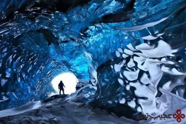 غار یخی skaftafell، ایسلند3