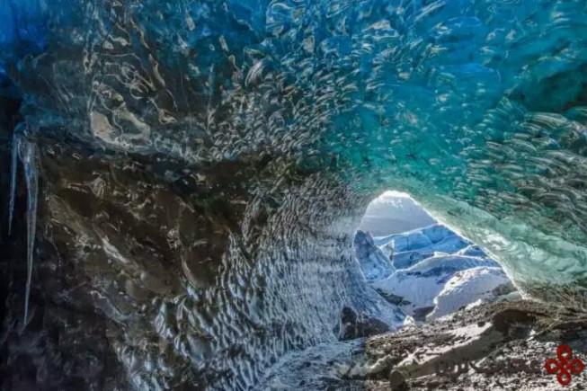غار یخی skaftafell، ایسلند