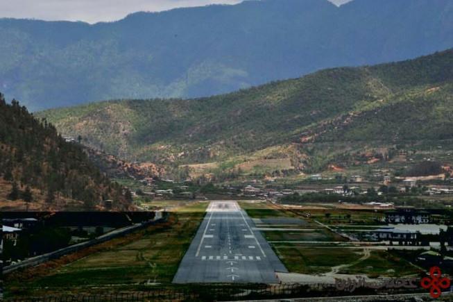 فرودگاه پارو( paro)، بوتان