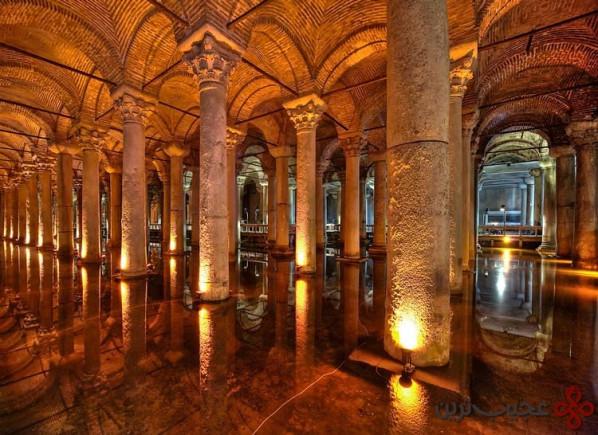 قصر زیرزمینی (basilica cistern)